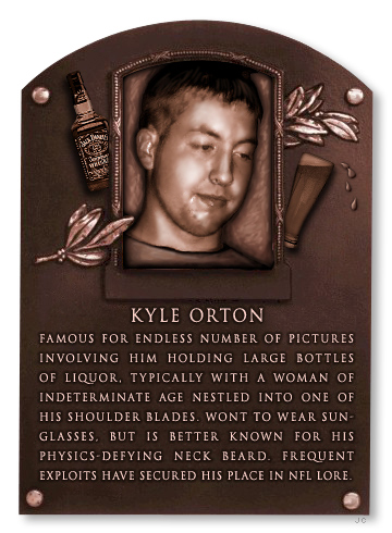 kyle orton hof plaque