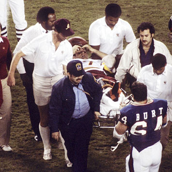 theismann carried off field