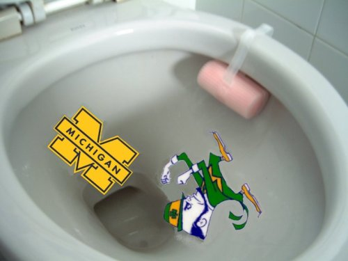 michigan notre dame toilet bowl