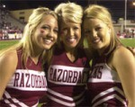 arkansas cheerleaders