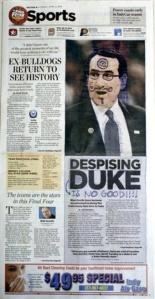 Final Four Newspaper Flap Basketball