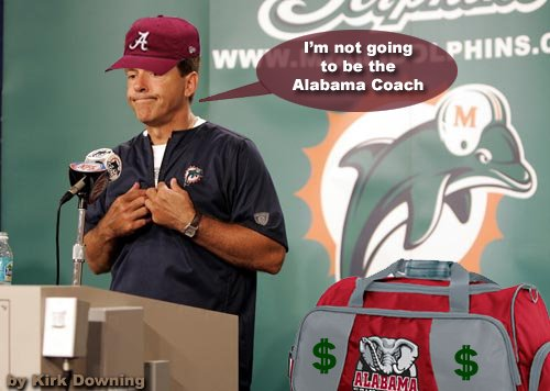 saban leaving miami bag of money