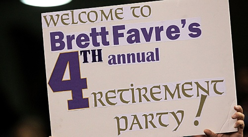 brett favre 4th annual retirement party
