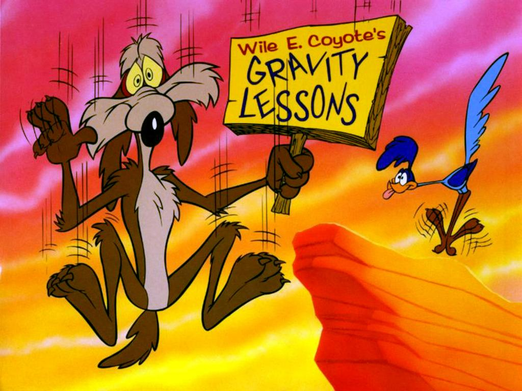 Painter and Wile E. Coyote: You just know is isn't going to end well for either of them.
