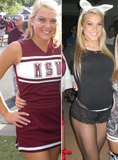 Today's winner is a Mississippi State freshman cheerleader named Taylor
