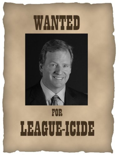 ROGER GOODELL WANTED POSTER