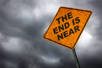 End of World Sign