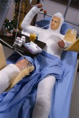 peyton manning body cast
