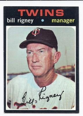 bill rigney twins card