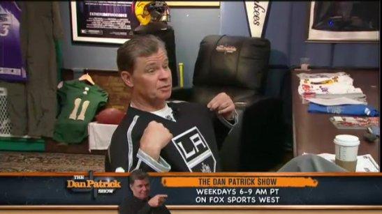 dan patrick la kings jersey