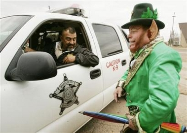 leprechaun and cop