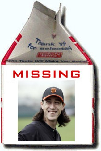 tim lincecum milk carton