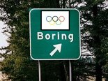 olympic boring road sign