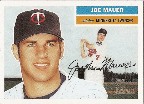 joe mauer retro baseball card