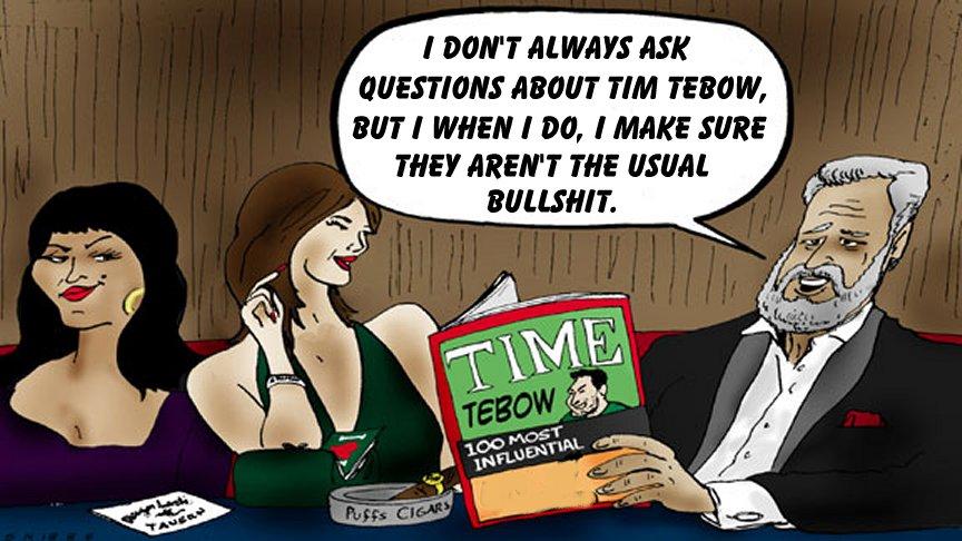 tim tebow most interesting man cartoon