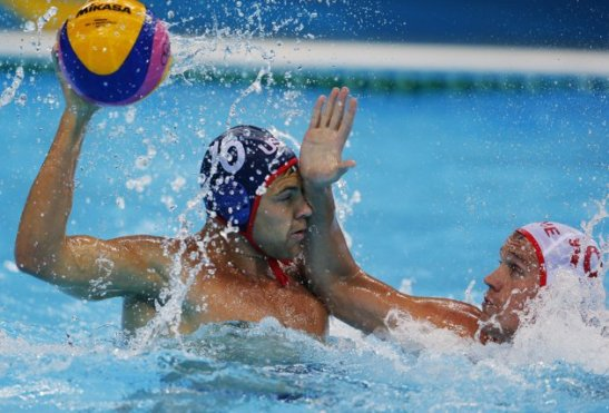 water polo chop to face