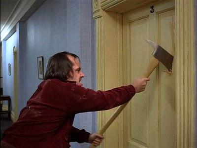 ax through the door