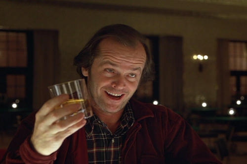 jack nicholson at the bar shining