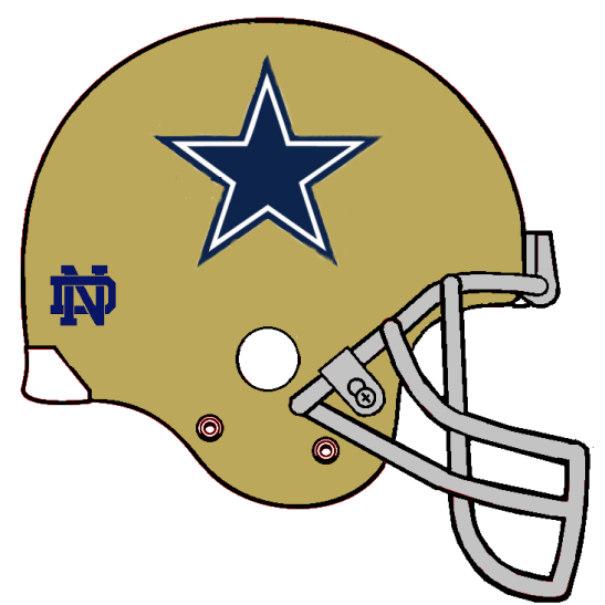 Notre Dallas Helmet