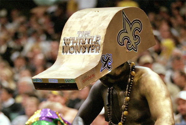 saints whistle hat