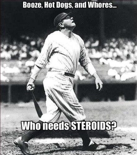 babe ruth steroids