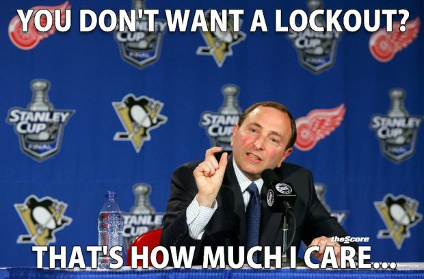 gary bettman does not care about lockout
