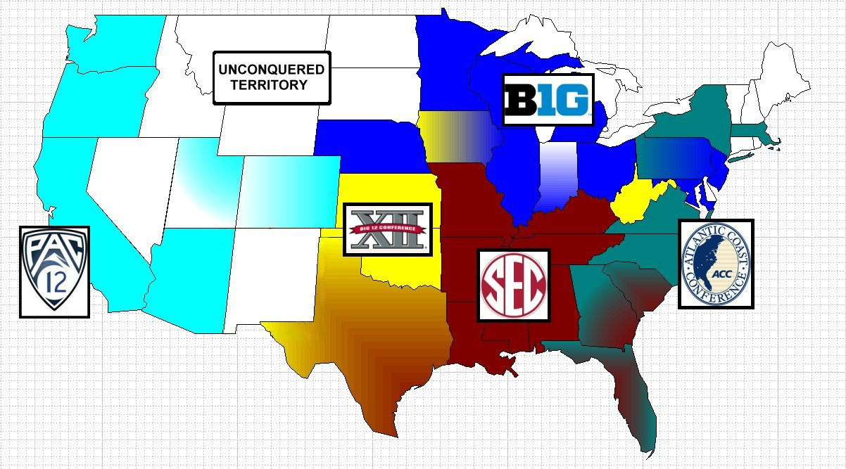Your Updated NCAA Conference ReAlignment Risk Map  Dubsism