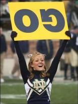 stupid notre dame cheerleader