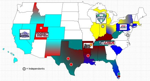 2012 Small Conference College Risk Map