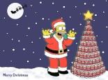 Homer Simpson Santa