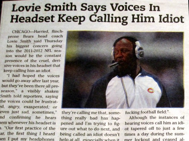 lovie smith newspaper idiot