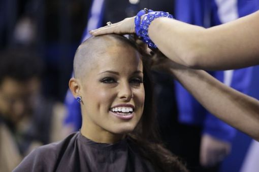 colts cheerleader shaved head