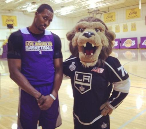 dwight howards and LA Kings Mascot