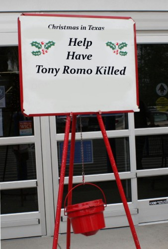 tony romo salvation army