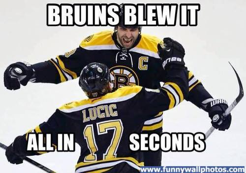 bruins blew it