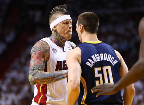 chris andersen tyler hansbrough fight