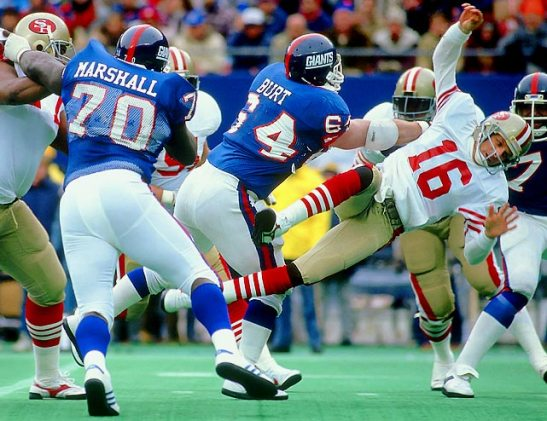 jim burt hit on joe montana