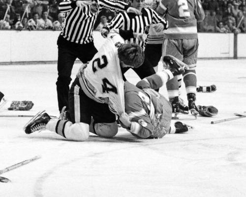 California Golden Seals v Boston Bruins