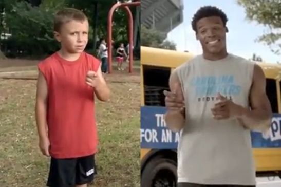 This kid wanted to be the next Cam Newton until he heard this story.