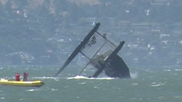 americas cup wreck