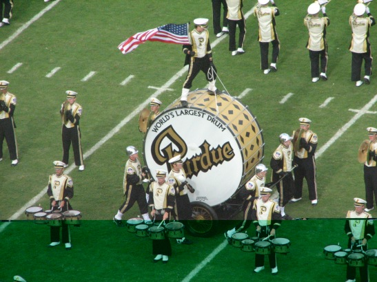 Two Purdue traditions: That  big-ass drum and Matt Painter blaming his coaching failings on some 20-year-old kid.