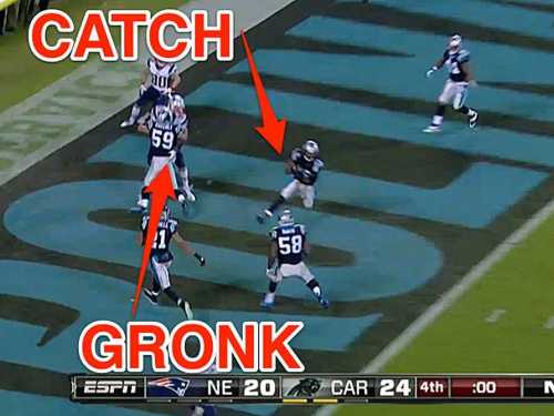 gronkowski robert lester interception