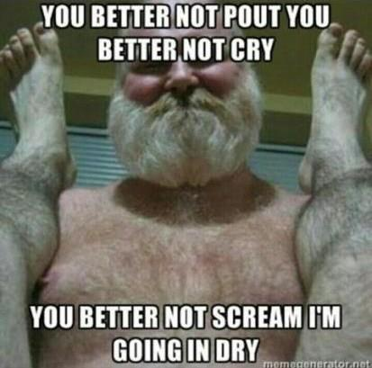 santa going in dry meme