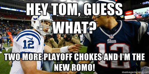 andrew luck and tom brady meme