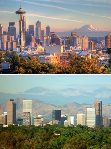 seattle and denver shylines