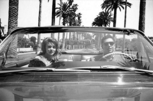Belinsky with his notorious Cadillac convertible and Ann-Margret.