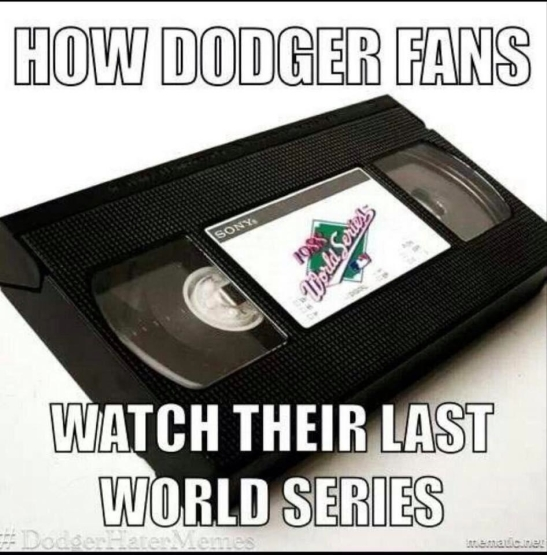 Dodgers world series vhs tape