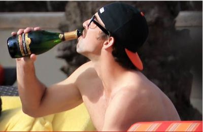 michael phelps drinking