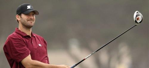 tony romo golfing