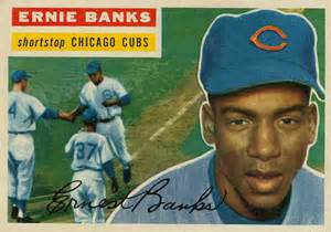 ernie banks baseball card